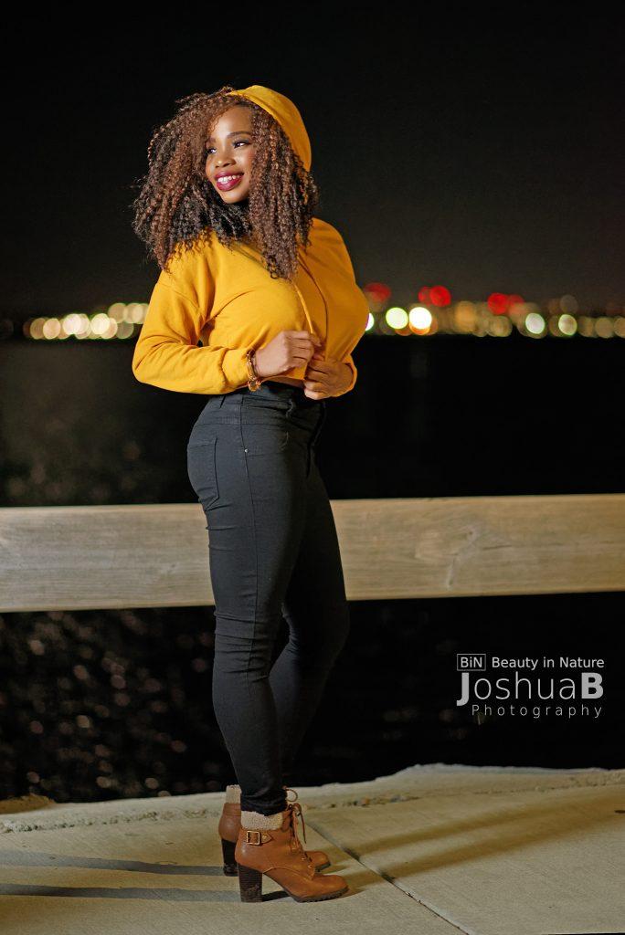 Beautiful black woman Castle Island