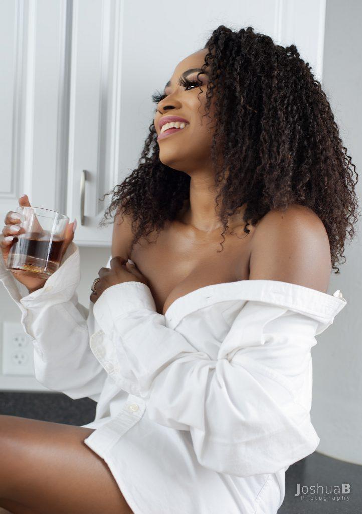 Abidemi Oke Nigerian model in white night shirt