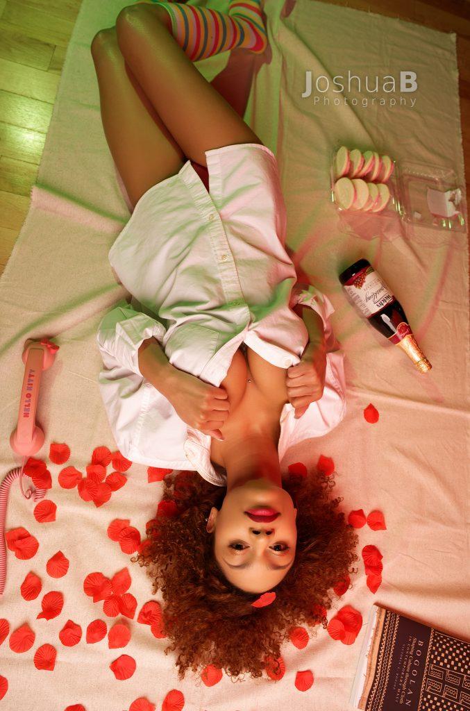 Tysheika Perez model in white night shirt